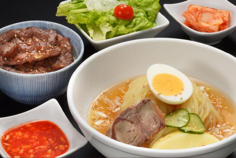 冷麺&ミニ焼肉丼ランチ